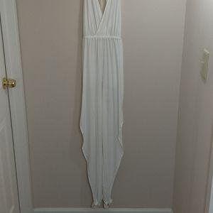 NWT HAH white halter jumpsuit
